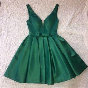 Green Cocktail Dress.